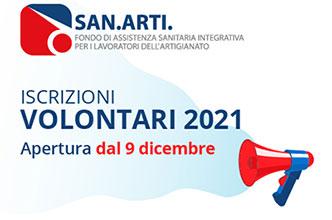 Apertura campagna iscrizione volontari 2021