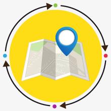 mappa delle filiali CAFCNA