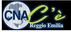 CNA C'è - Logo nuova campagna immagine CNA Reggio Emilia