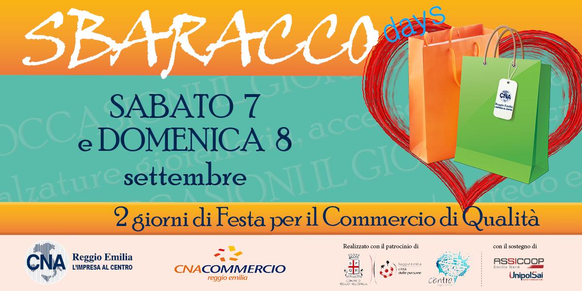 Sbaracco Days a Reggio Emilia sabato 7 e domenica 8 settembre