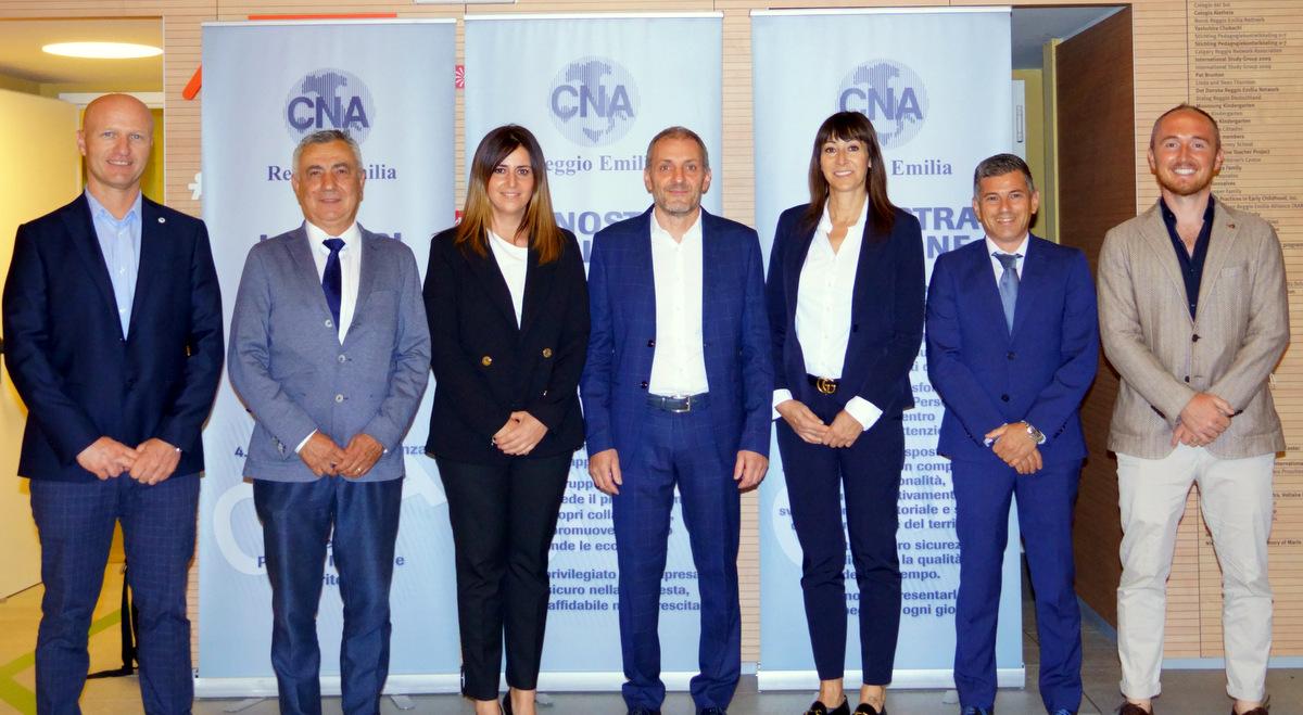 Il presidente CNA con i vicepresidenti